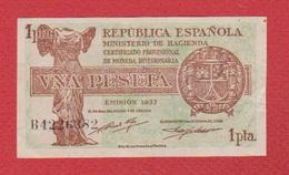 Espagne  / 1 Peseta 1937 - [ 3] 1936-1975 : Régence De Franco