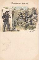 CHASSEURS ALPINS  ,illustrateur ,MILITARIA,uniforme ,gabriel PINXIT ( Je Crois) - Uniforms