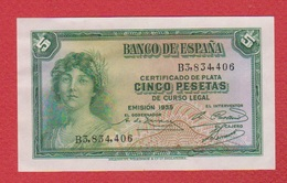 Espagne  / 5 Pesetas 1935 / SUP+ - [ 2] 1931-1936 : Republic