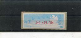 France 1 Vignette Distributeurs Type C LISA N°YT 220 - J+2 19,00 - 1990 «Oiseaux De Jubert»