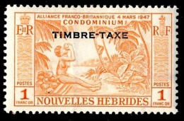 NOUVELLES HEBRIDES 1957 - Yv. Taxe 40 *   Cote= 15,00 EUR - Noix De Coco 1f ; TIMBRE-TAXE  ..Réf.AFA23042 - Impuestos