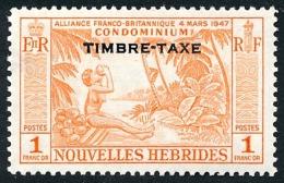 NOUVELLES HEBRIDES 1957 - Yv. Taxe 40 *   Cote= 15,00 EUR - Noix De Coco 1f ; TIMBRE-TAXE  ..Réf.AFA23084 - Portomarken