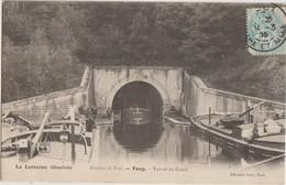 CPA 55 FOUG Près Toul Tunnel Du Canal Péniches Batellerie 1905 - Foug