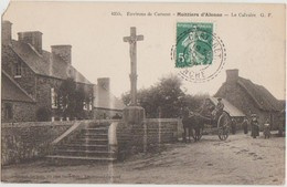 CPA 50 MOITTIERS D'ALONNE Près Carteret Croix Calvaire Attelage 1908 - Non Classés