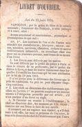 LIVRET D OUVRIER CANTAL SAINT FLOUR MINEUR 1871 - Documents Historiques