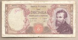 """Italia - Banconota Circolata Da 10.000 Lire """"Michelangelo"""" P-97b.2 - Luglio 1964 - [ 2] 1946-… : Républic"""