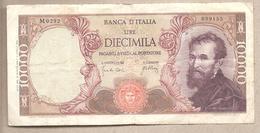 """Italia - Banconota Circolata Da 10.000 Lire """"Michelangelo"""" P-97c - 1966 - [ 2] 1946-… : Républic"""