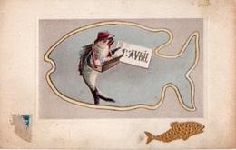 83Vn   Poisson D'avril Déguisé En Facteur Courrier Illustrateur - Animali Abbigliati