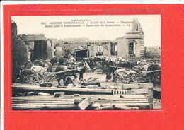 80 DOMPIERRE Cpa Guerre Militaire Ruines Apres Le Bombardement          841 LL - France