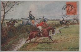 Jaking The Brook - G.D. Rowlandson - Chevaux