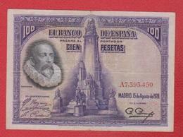 Espagne  / Pick 76  / 100 Pesetas 1928/ TB - [ 1] …-1931 : First Banknotes (Banco De España)