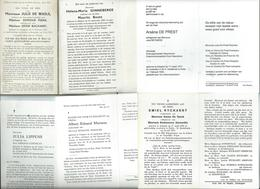 B.P. ADEGEM 13 STUKS ZIE SCANS - Religion & Esotérisme