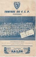 86 - POITIERS - FANFARE DU C.E.P. ( 4 Pages 13,5 Cm X 21 Cm ) - Menus