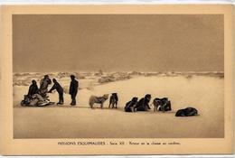 CPSM Canada Alaska Esquimau Non Circulé Chien Dog Attelage Chasse Au Caribou - Northwest Territories