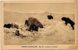 CPSM Canada Alaska Esquimau Non Circulé Chien Dog Chasse à L'ours Blanc Polaire - Northwest Territories
