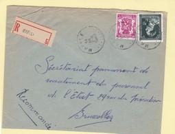 N° 696 + Petit Sceau / Env. En Recommandé De Maffles - 1934-1935 Léopold III