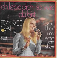 """France Gall 45t. SP ALLEMAGNE """"ich Liebe Dich"""" - Other - French Music"""