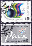 UN Genf  Geneva Geneve - Jahr Des Friedens (MiNr: 145/6) 1986 - Gest Used Obl - Usati