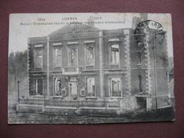 CPA BELGIQUE Province De HAINAUT LOBBES Maison Communale Aprés Passage Des Allemands Guerre 1914 RARE PLAN 1919 ? - Lobbes