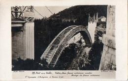 83Vn   73 Carte Photo Pont De La Caille Cintre Montage Des Fermes Interieures Cie L.E.T.A De Lyon - France