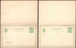 Denmark 1885 - 5 + 5 Ore BREV-KORT, Postal Stationery W. Reply, MiNr. P 24 F+A. - Enteros Postales