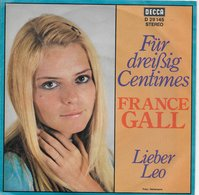 """France Gall 45t. SP ALLEMAGNE  """"fur Dreissig Centimes"""" - Other - French Music"""