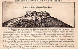 SAVERNE - Château Du Haut Barr Au XVIe Siècle - Saverne