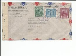 Venezuela, Lettre Censure Braun Caracas - Ste Croix Suisse (1083) - Venezuela