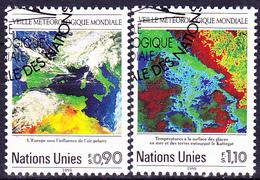 UN Genf  Geneva Geneve - 25 Jahre Weltwetterwacht (MiNr: 176/7) 1989 - Gest Used Obl - Usati