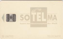 Mali Phonecard - Superb Fine Used 30u ((Schlumberger) - Beige Colour - Mali