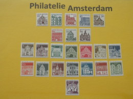 Germany West 1964-69, COMPLETE SERIES GERMAN BUILDINGS FROM 12 CENTURIES: Mi 454-, ** - Unused Stamps