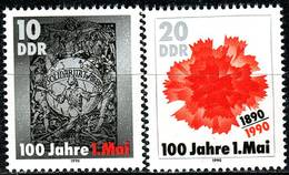 DDR - Michel 3322 / 3323 - ** Postfrisch (A) - 10-20Pf     100 Jahre Tag Der Arbeit (1.Mai) - [6] République Démocratique