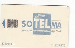 Mali Phonecard - Superb Fine Used 30u ((Schlumberger) - Ultramarine/Blue Colour - Mali