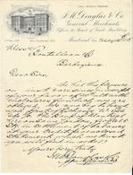 Canada - Montréal. Entête 1898 -  J.M.Douglas & C°. General Merchants. - Canadá