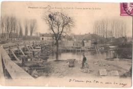 ***   02  ***  PONTAVERT  Les Travaux Du Pont De Chemin De Fer Sur La Riviere TTB - France