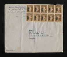 HEIMAT LUZERN → 1931 Brief Cosmophilatelisten Nach Canada  ►Zehnfachfrankatur SBK-180 ►RRR◄ - Suiza