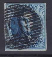 N° 7 Margé VARIETE RETOUCHE FEUILLAGE Planche III Position 82 - 1851-1857 Médaillons (6/8)
