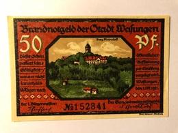 Allemagne Notgeld Wasungen 50 Pfennig - [ 3] 1918-1933 : Weimar Republic