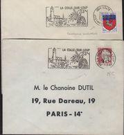 Flammes Sécap La Colle Sur Loup =o 1967 Non Codée Et Codée Anomalie Couronne Renversée - Curiosidades: 1960-69 Cartas