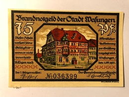 Allemagne Notgeld Wasungen 75 Pfennig - [ 3] 1918-1933 : Weimar Republic
