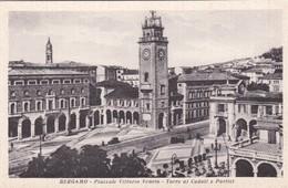 CARTOLINA - POSTCARD - BERGAMO - PIAZZA VITTORIO VENETO  - TORRE AI CADUTI E PORTICI - Bergamo