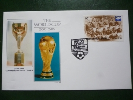 NANUMEA TUVALU 1986 MEXICO FOOTBALL WORLD CUP FDC COVER With STAMPS - Tuvalu