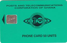 Ghana Phonecard - Superb Fine Used 50u (Schlumberger) S14 - Ghana