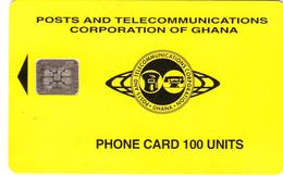 Ghana Phonecard - Superb Fine Used 100u (Schlumberger) S14 - Ghana