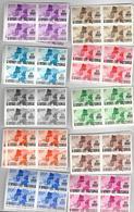 _D688: Restje In Blokken V4: 4x De Opdrukken Op 40/49 : Postfris :XXX + Wat Dubbele... - Katanga