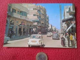 POSTAL POST CARD POSTCARD CARTE POSTALE GAZA PALESTINA OMAR EL MOKTHAR STREET VER FOTOS Y DESCRIPCIÓN.CARS COCHES CAR - Palestina