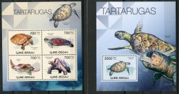 Guinea Bissau, 2012, Turtles, Tortoises, Animals, Fauna, MNH, Michel 5892-5895, Block 1041 - Guinea-Bissau