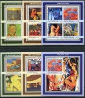 Guinea Bissau, 2003, Paintings, Van Gogh, Gauguin, Picasso, MNH, Michel 2097-2108, Block 390-392 - Guinea-Bissau