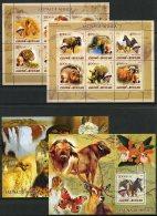 Guinea Bissau, 2005, Albert Schweitzer, Animals, Mammals, Fauna, MNH, Michel 2818-2829, Block 471-472 - Guinea-Bissau