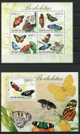 Guinea Bissau, 2009, Butterflies, Insects, Animals, Fauna, MNH, Michel 4504-4507, Block 735 - Guinée-Bissau